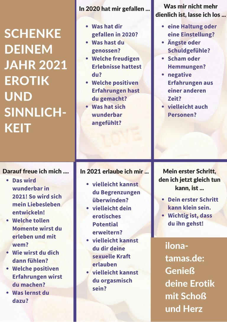 Lustvolles 2021 in 5 Schritten